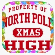 Property of North Pole High sticker (icon for North Pole Swap game app)