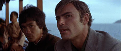 Bruce Lee and John Saxon