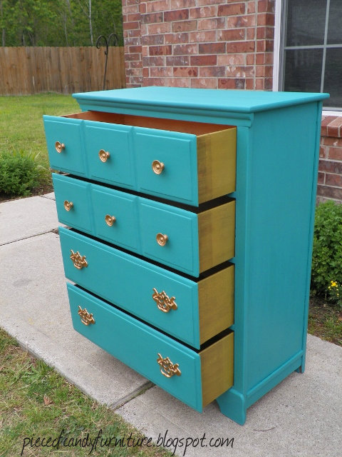 Gold Painted Dresser Painted The Handles Gold