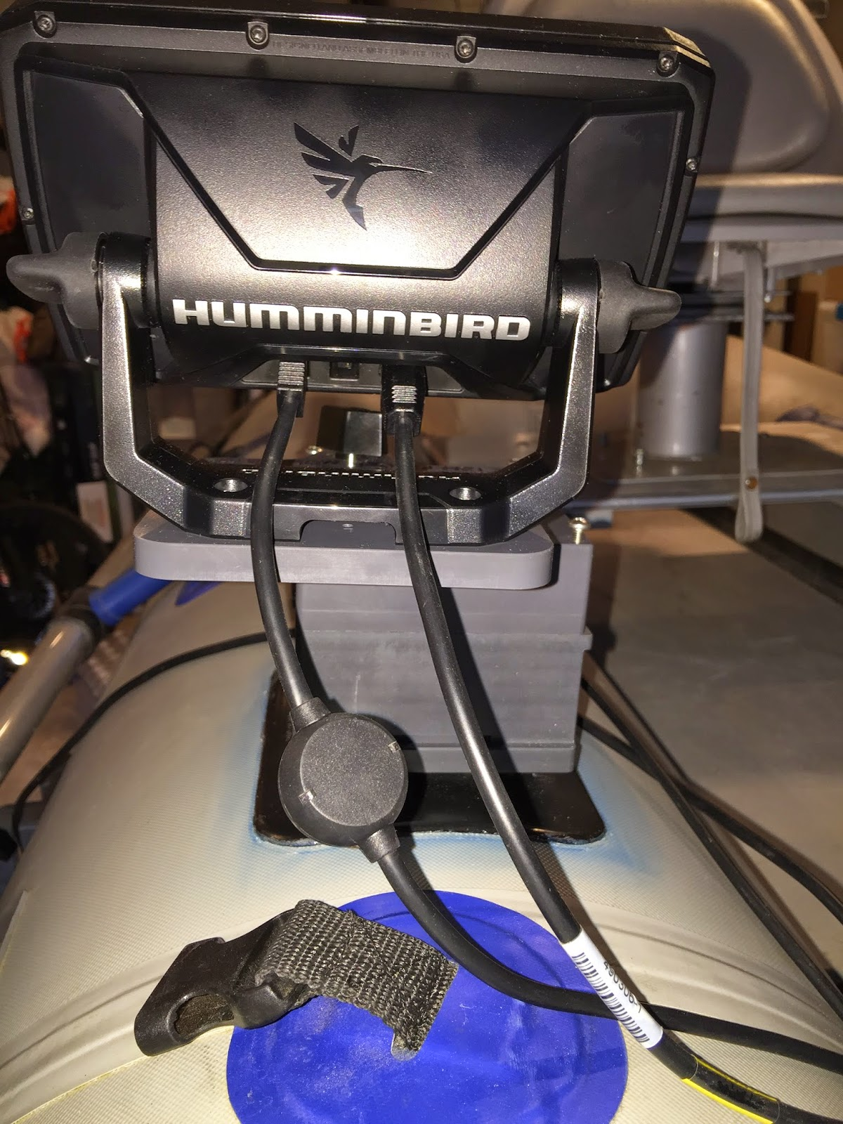fish finder brackets for Humminbird Helix 5 and Sea Eagle 285