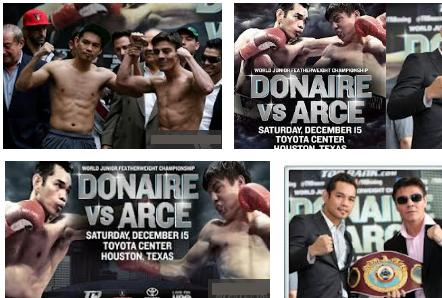 Donaire vs Arce live streaming fight results winner video replay