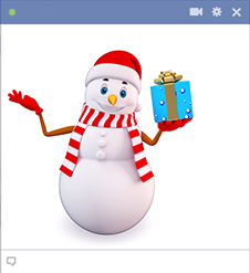 3D Snowman sticker for Facebook