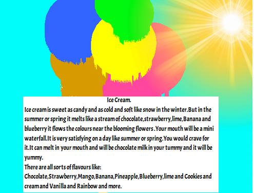 Ice Cream Poem my Shape Poem About Ice Cream