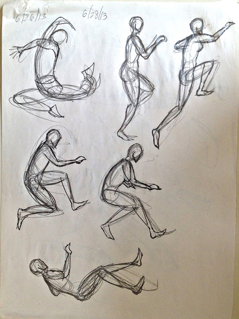 Kreated By Krause  Figure Drawing Step One  Gesture