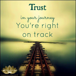 Trust in your journey you are right on track - inspirational positive quotes