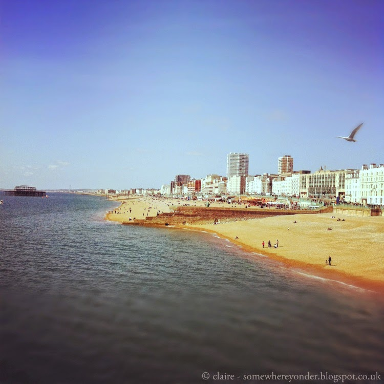 View of Brighton beach from Brighton Pier