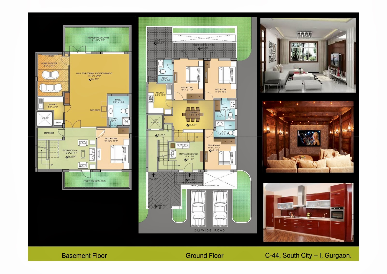 south city 1 gurgaon independent builder floors 250 sq yards plan first floor