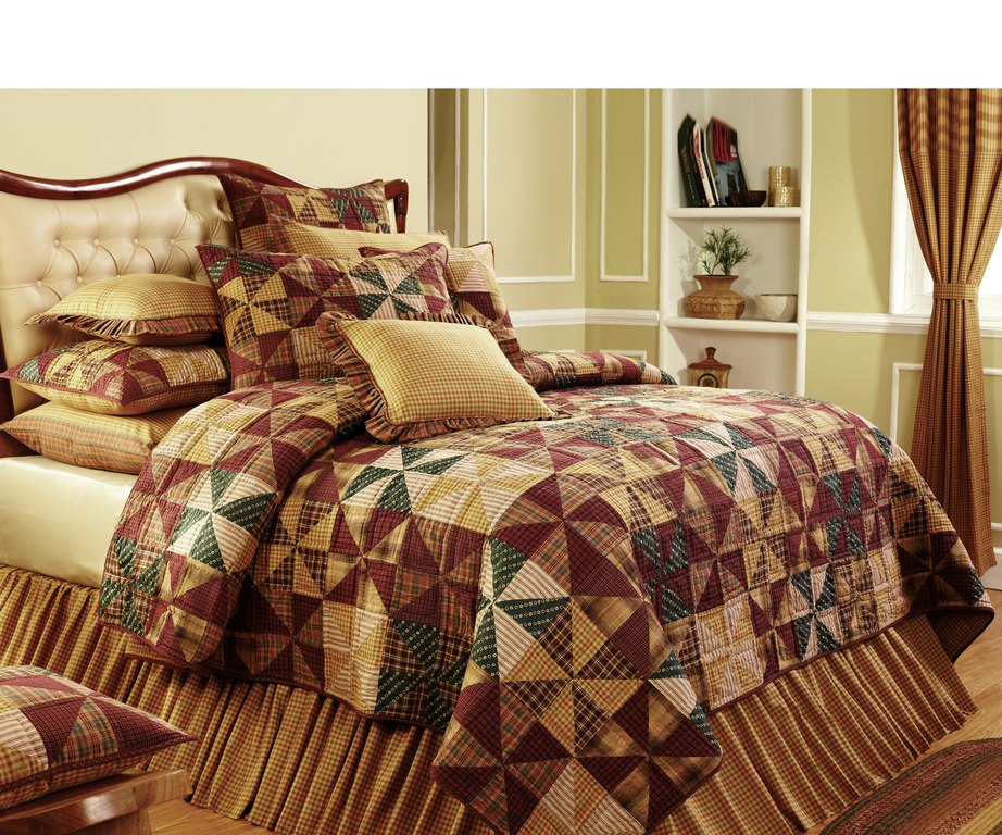 Victorian Heart Quilt Primitive Bedding Country Quilt Sets