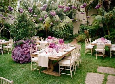 24 pink and purple hanging flower for wedding table decoratin ideas & Purple Plum Modern Wedding table Dercoration Ideas | Wedding ...
