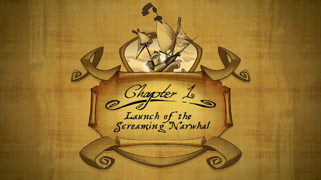 Tales of Monkey Island Chapter 1 Launch of the Screaming Narwhal title card