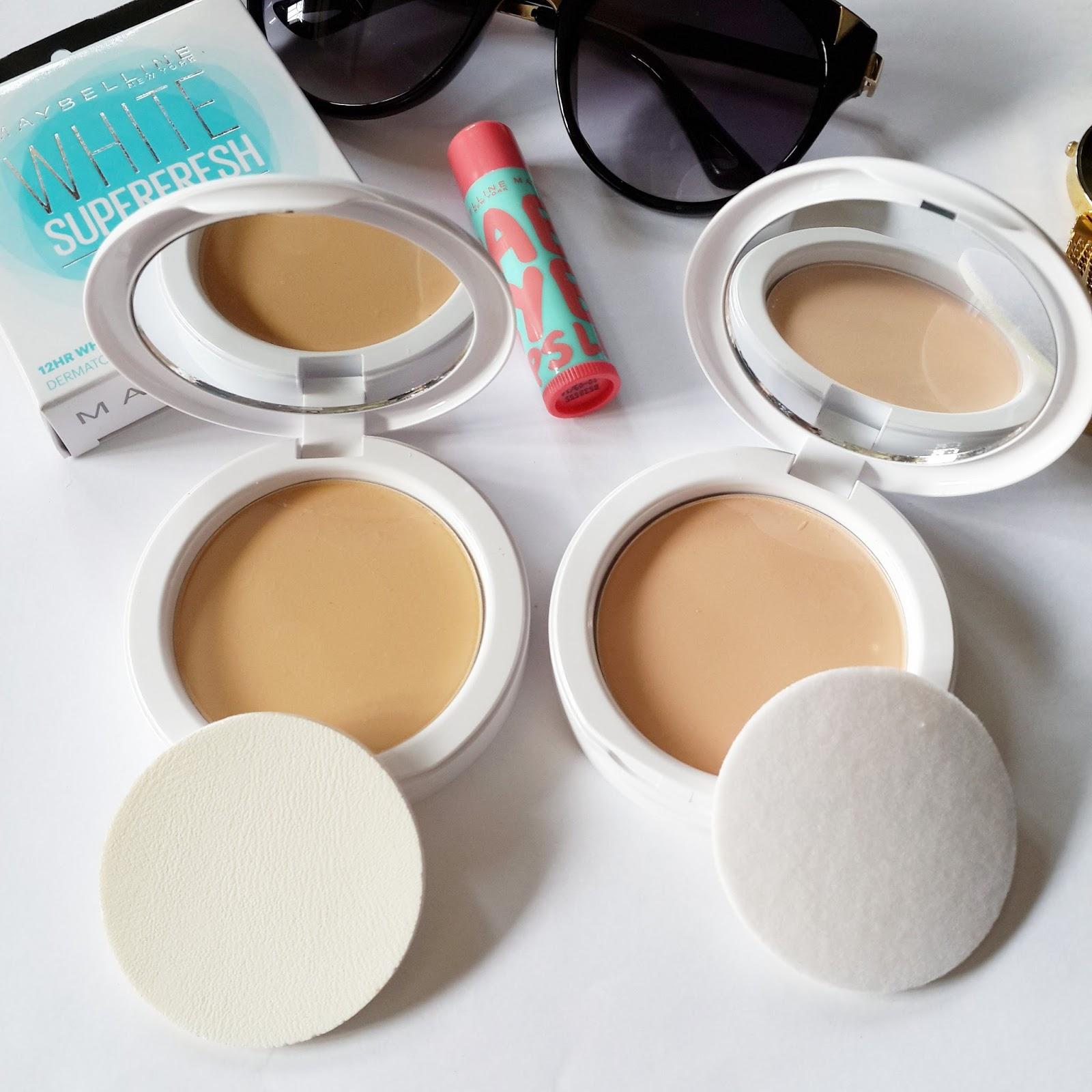 Ridzi Makeup Compact Maybelline Two Cake Bedak 2 Pcs L Shell R Pearl