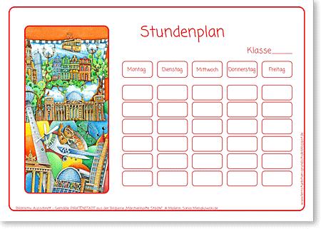 Stundenplan Grundschule Berlin Europa für Kinder
