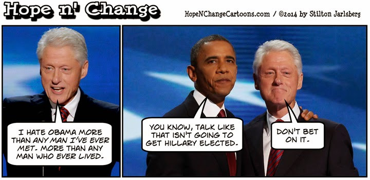 obama, obama jokes, political, humor, cartoon, hope n' change, hope and change, stilton jarlsberg, obama, klein, blood feud, book, benghazi