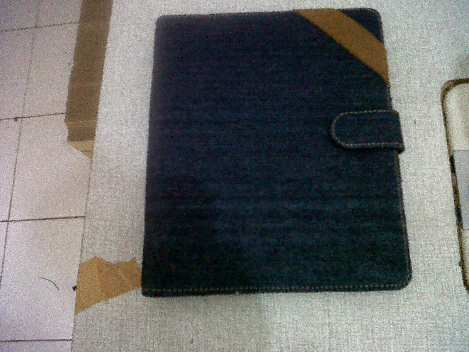 cover agenda bahan jeans