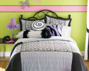 Modern Home Interior Design: Black And White And Pink Bedroom ...