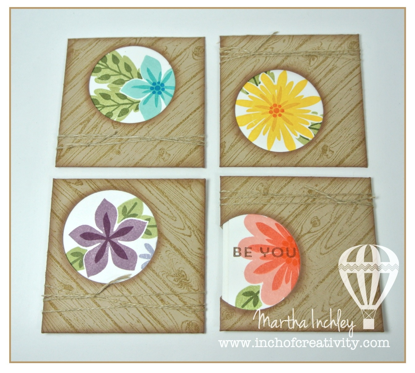 Inch of Creativity Flower Patch Card Set