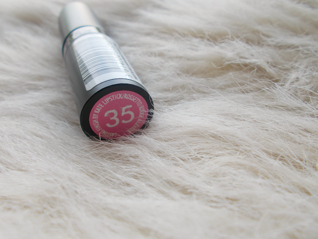 rimmel kate moss lasting finish lipstick 35 pink purple review swatches product testing uk