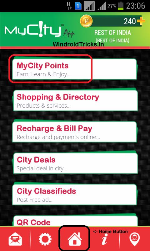 earn recharge mycity app