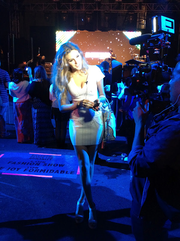 The most beautiful model from the show getting interviewed!