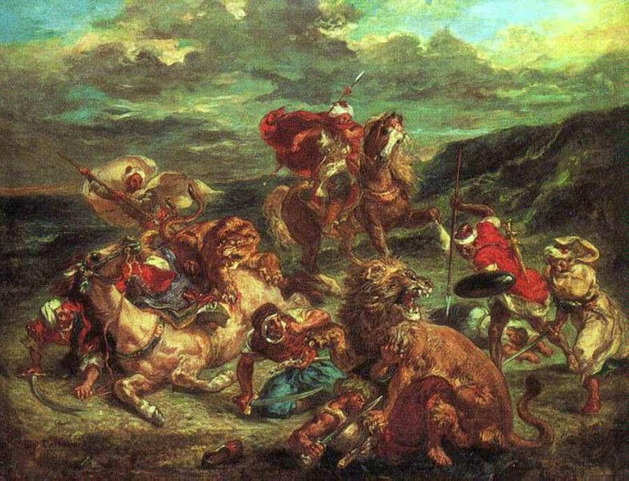 ציד האריות - יוג'ין דלקרואה