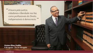 """""""A busca pela justiça, cidadania e liberdade nos faz, como profissionais de Direito, indispensáveis à democracia"""" - Dia do Advogado"""