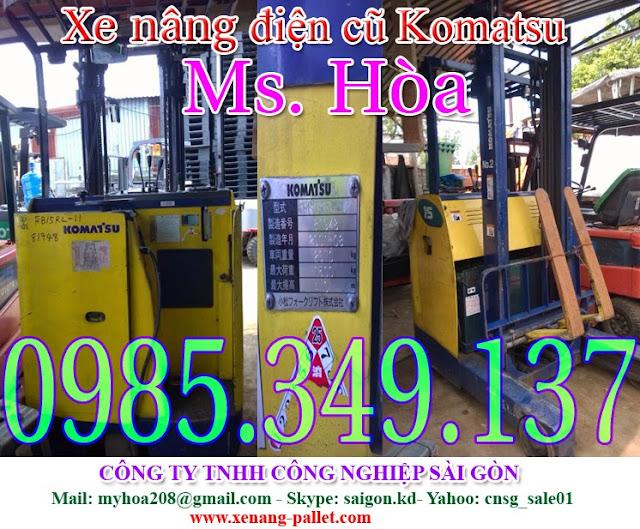 0985349137 Xe nâng điện cũ, xe nâng điện Toyota, Nissan, Xe nâng điện