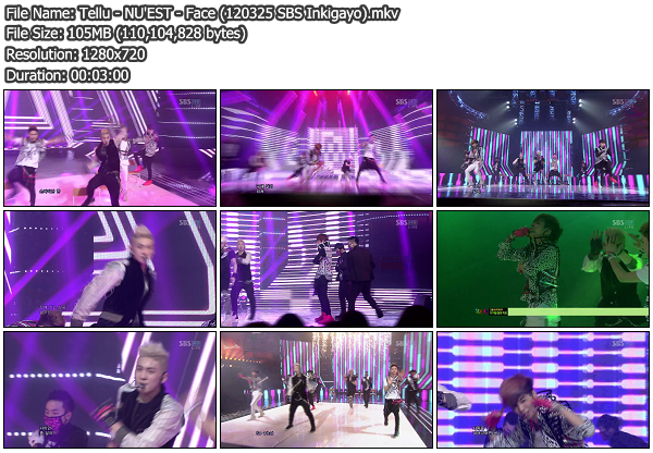 [Perf] NUEST   Face @ SBS Inkigayo 120325