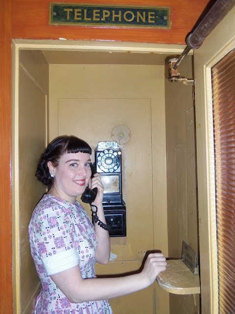 st francis fountain, soda shop, vintage, phone booth,
