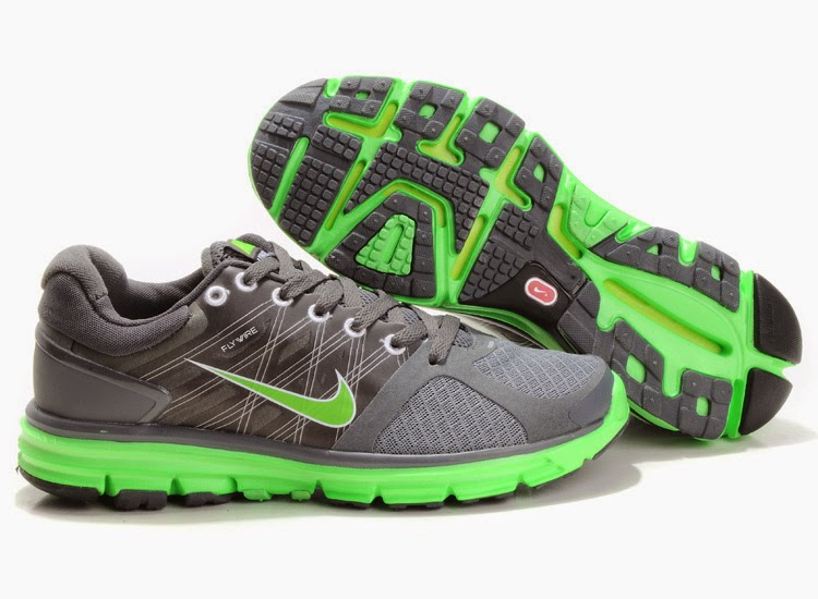 Mens Nike Dual Fusion ST 2 Running Shoes Grey Green   Cheap Online