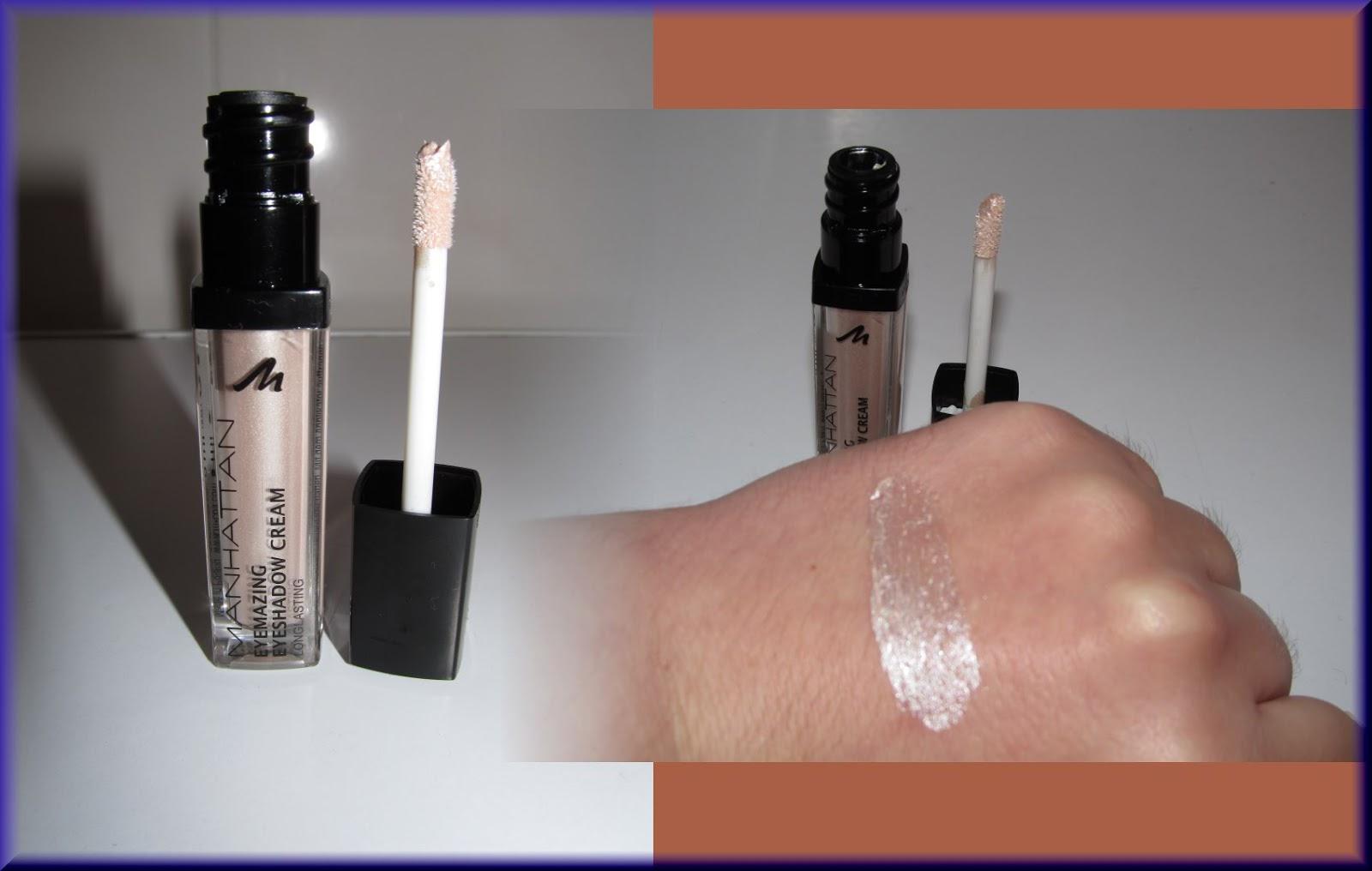 magische farbwelt rund um kosmetik und mehr produkttest manhattan eyemazing eyeshadow cream. Black Bedroom Furniture Sets. Home Design Ideas