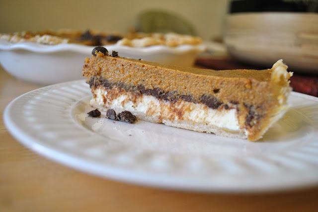 ... in Her Kitchen: Pumpkin Chocolate Cheesecake Pie + 2 Confessions