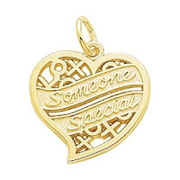Gold Someone Special Heart Charm