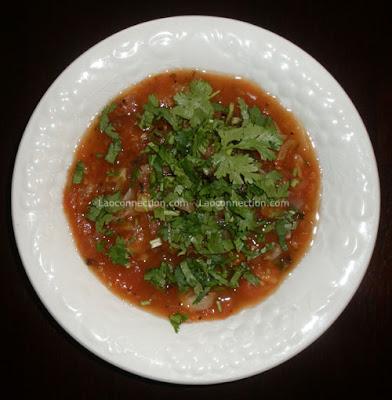 Lao food - Lao Recipe - jaew mak lin, tomato sauce or salsa