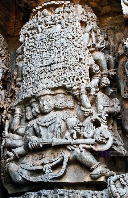 Ravana Lifting Mount Kailasa