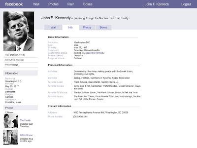 Historical figure facebook page civil war final project for Historical facebook page template