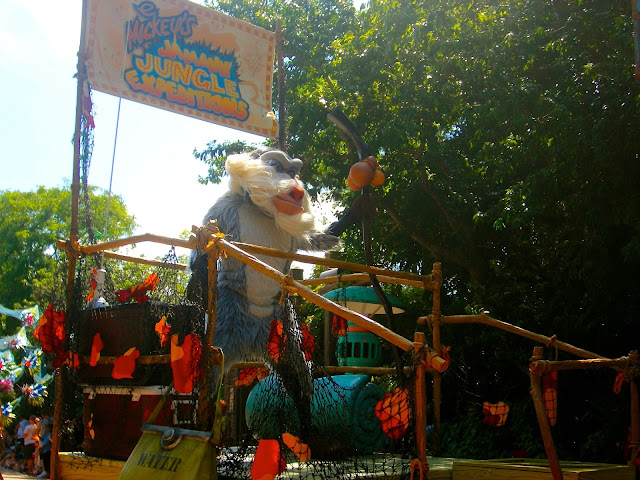 Rafiki on a float in the Jungle Parade - Animal Kingdom, Disney World, Florida