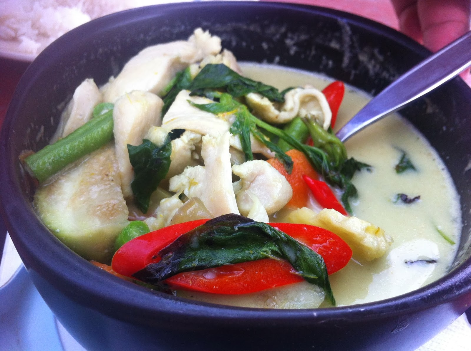Green curry, Koh Tao, Thailand