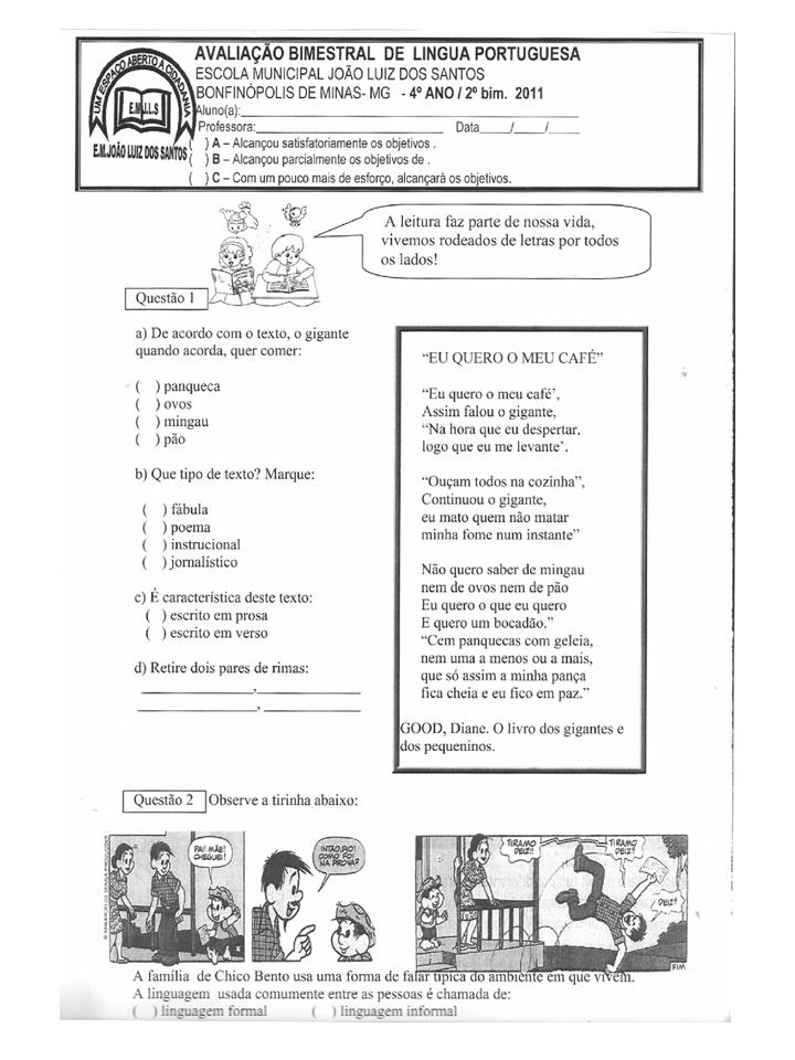 Tipos De Texto   Jornal  Stico E Po  Tico   Linguagem Formal E