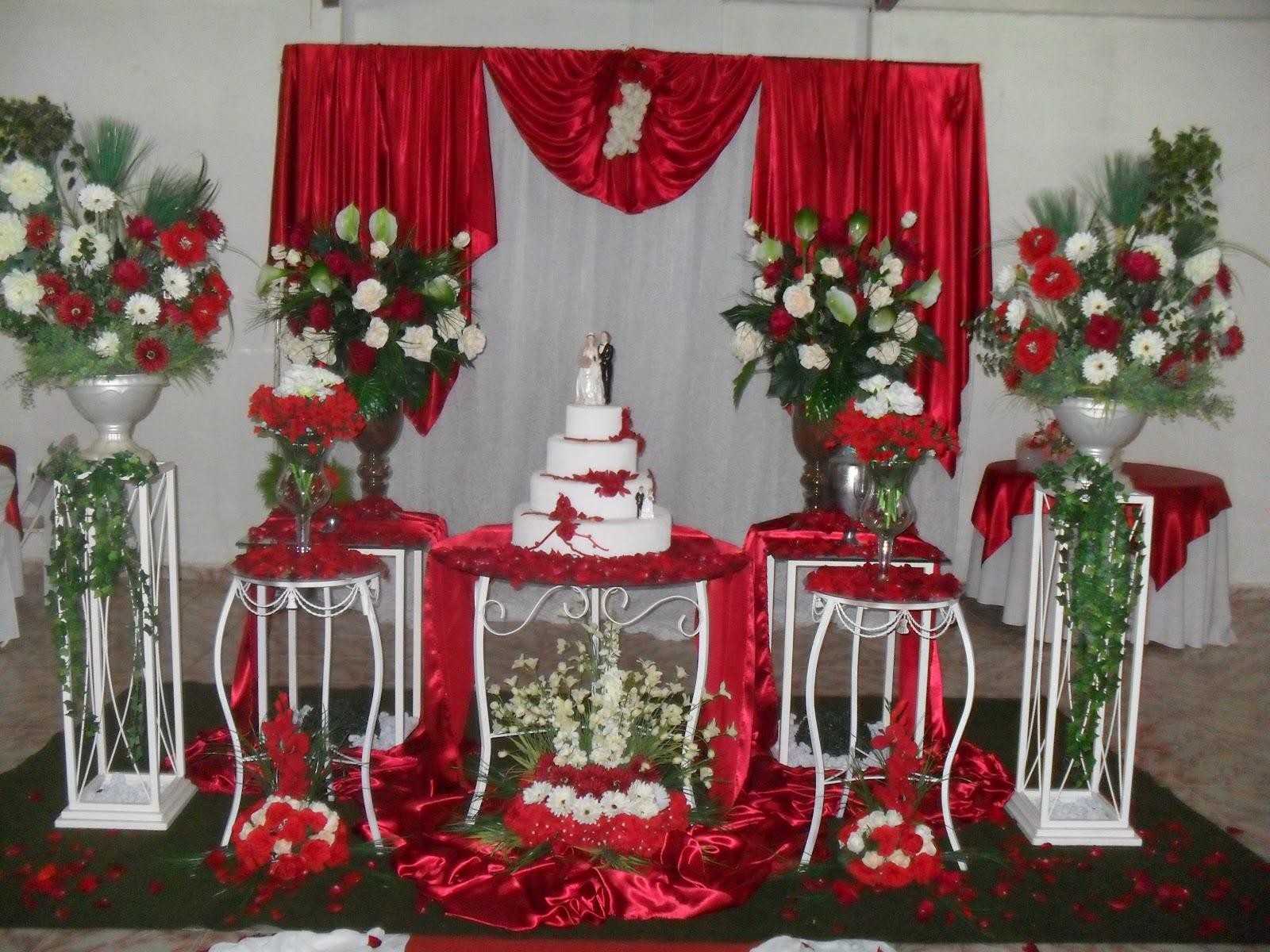 ... de casamento ? fotos # decoracao branca e vermelha para casamento