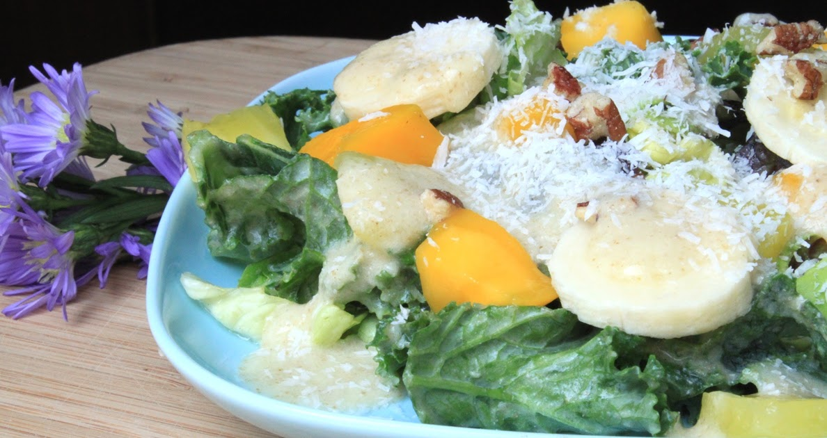 A Teaspoon and A Pinch: Tropical Kale Salad with Creamy ...