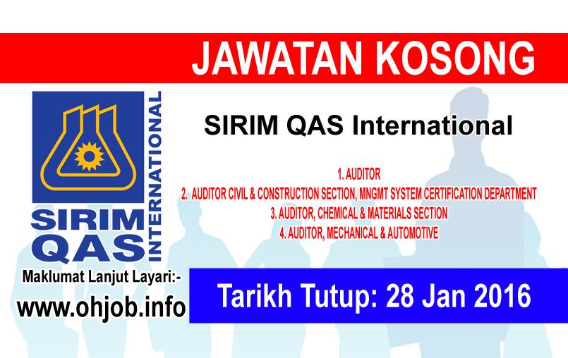 Jawatan Kerja Kosong SIRIM QAS International logo www.ohjob.info januari 2016