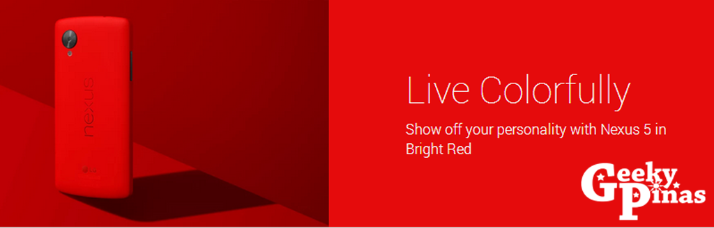 Bright Red Nexus 5 is now released from Google Play Store!