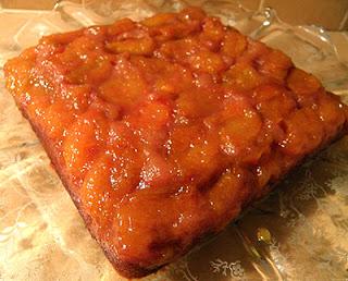 Square Cake on Platter