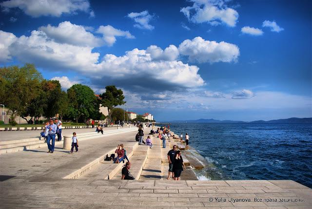 Морской орган на набережной Задара Хорватия