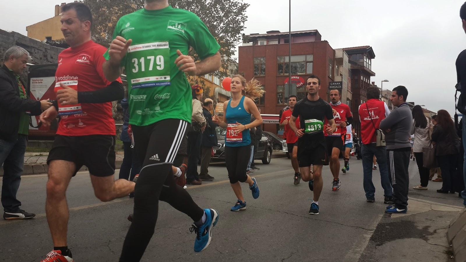 Vodafone Yarı İstanbul Maratonu 2014 Nisan yarış