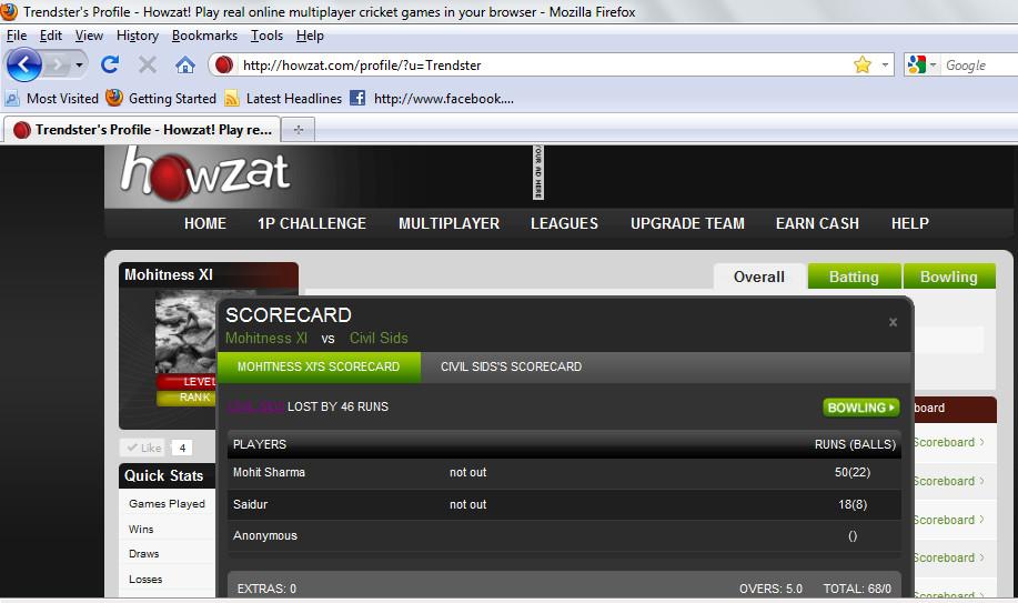 Match website version