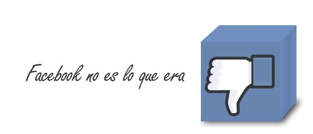 Facebook no es lo que era. Ante el alcance cero: recibir notificaciones y ofrecer suscribe.