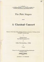 Pink Singers at Burgh House in 1986
