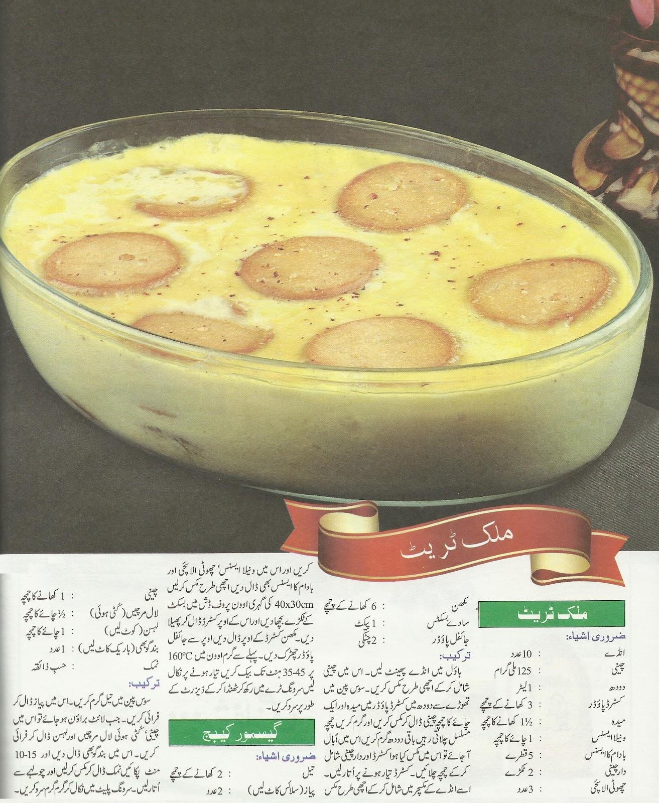 Coking Philospher New Coking Recipes In Urdu 2012 Milk Treat A