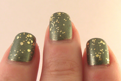 Olive You and Gold Glitter